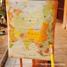 Vintage: MAPAS ESCOLARES RETRO DE ÁSIA, ÁFRICA Y OCEANÍA. Lote 151424314