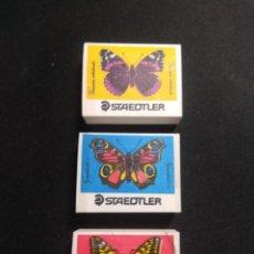 Vintage: 3 GOMAS ANTIGUAS STAEDTLER MARIPOSAS. Lote 151654770