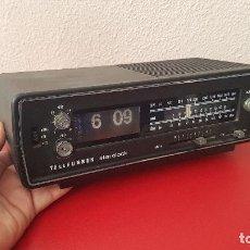 Vintage: TELEFUNKEN STAR CLOCK RADIO DESPERTADOR RELOJ FLIP FLOP NUMERO VOLCADO ANTIGUA VINTAGE DISEÑO . Lote 151746434