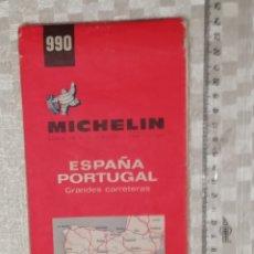 Vintage: MAPA 1968 DE CARRETERAS MICHELIN ESPAÑA Y PORTUGAL EDICIÓN 1968. Lote 151907590