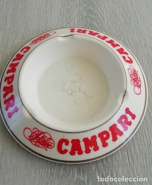 CENICERO CON PUBLICIDAD DE BITTER CAMPARI EIMEN GIJON MADE IN SPAIN. (Vintage - Decoración - Varios)