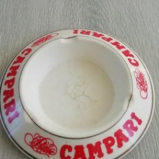 Vintage: CENICERO CON PUBLICIDAD DE BITTER CAMPARI EIMEN GIJON MADE IN SPAIN.. Lote 151976206