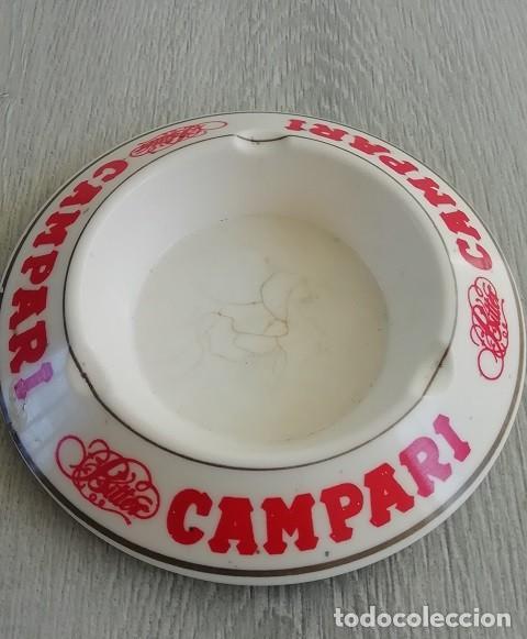 Vintage: CENICERO CON PUBLICIDAD DE BITTER CAMPARI EIMEN GIJON MADE IN SPAIN. - Foto 2 - 151976206
