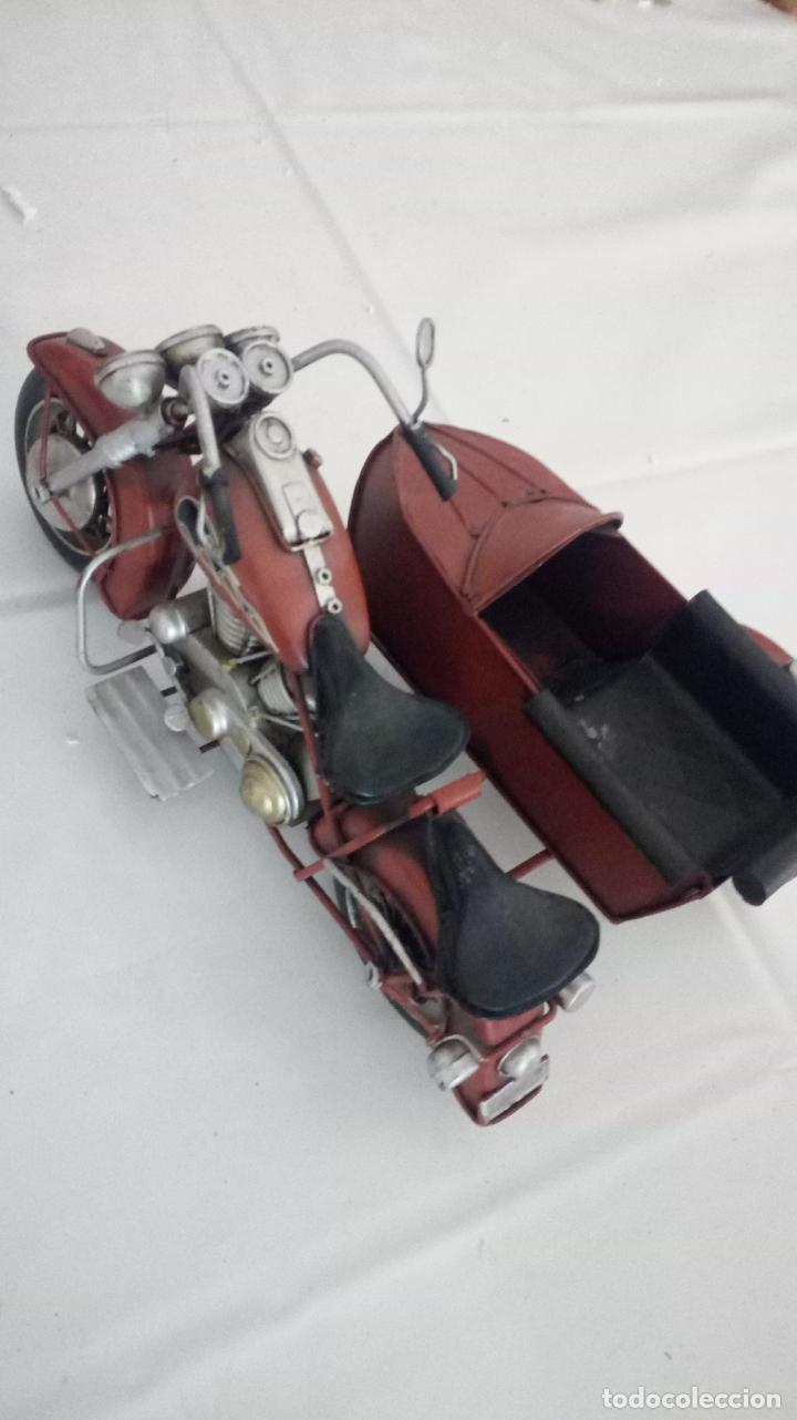 MOTO CON SIDECAR- DECORACION (Vintage - Decoración - Varios)