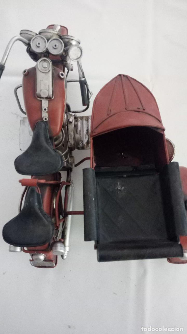 Vintage: MOTO CON SIDECAR- DECORACION - Foto 3 - 151981270