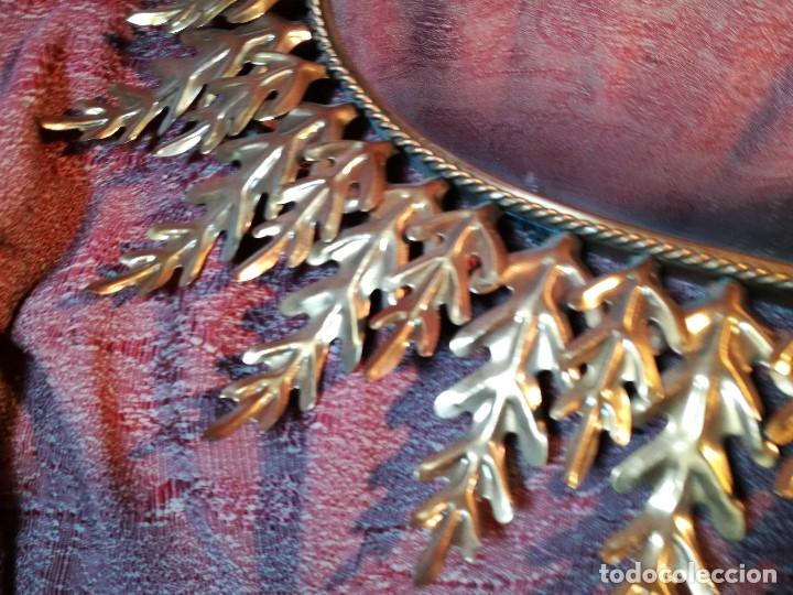 Vintage: espejo sol forja hojas de roble quercus Cobreado vintage retro 70s oro . grande 77 x 58--REF-D - Foto 4 - 152207210