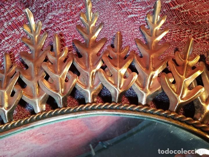 Vintage: espejo sol forja hojas de roble quercus Cobreado vintage retro 70s oro . grande 77 x 58--REF-D - Foto 7 - 152207210