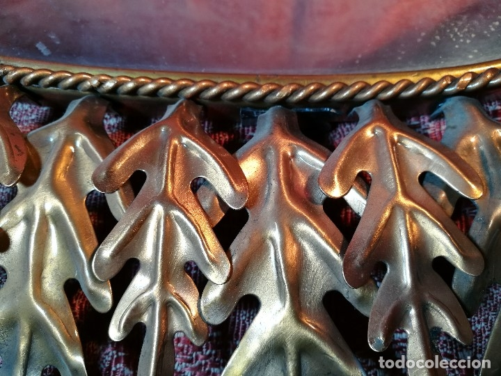 Vintage: espejo sol forja hojas de roble quercus Cobreado vintage retro 70s oro . grande 77 x 58--REF-D - Foto 11 - 152207210