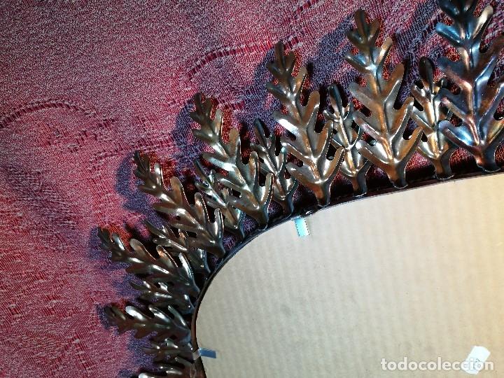 Vintage: espejo sol forja hojas de roble quercus Cobreado vintage retro 70s oro . grande 77 x 58--REF-D - Foto 16 - 152207210