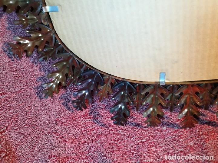 Vintage: espejo sol forja hojas de roble quercus Cobreado vintage retro 70s oro . grande 77 x 58--REF-D - Foto 17 - 152207210