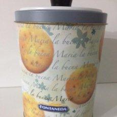 Vintage: BOTE DE GALLETAS FONTANEDA- 20 CM ALTURA. Lote 152217190