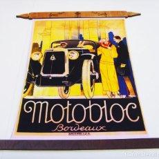 Vintage: ANUNCIO AUTOMÓVIL MOTOBLOC BORDEAUX (AÑOS 20) POSTER NUEVO VINTAGE RETRO (REF. L2 04). Lote 152218902