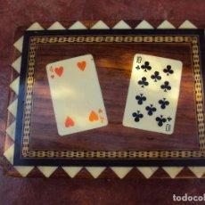 Vintage: CAJA NAIPES PRECIOSA MARQUETERIA. Lote 152531050