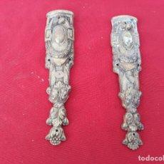 Vintage: EMBELLECEDORES DE BRONCE PARA ESQUINA DE ARMARIO. Lote 152544446