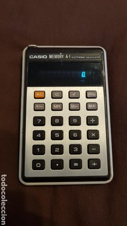 CALCULADORA CASIO MEMORY A1 VINTAGE ELECTRONIC CALCULATOR FUNCIONANDO (Vintage - Varios)