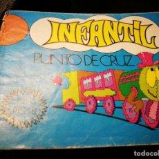 Vintage: CUADERNO PUNTO DE CRUZ. Lote 154031650