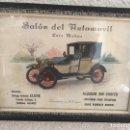Vintage: ANTIGUO CUADRO SALÓN DEL AUTOMOVIL. Lote 154032580