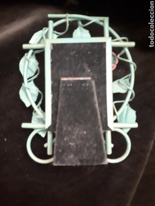 Vintage: Pequeño marco fotos hierro forja rosa - Foto 3 - 154059209
