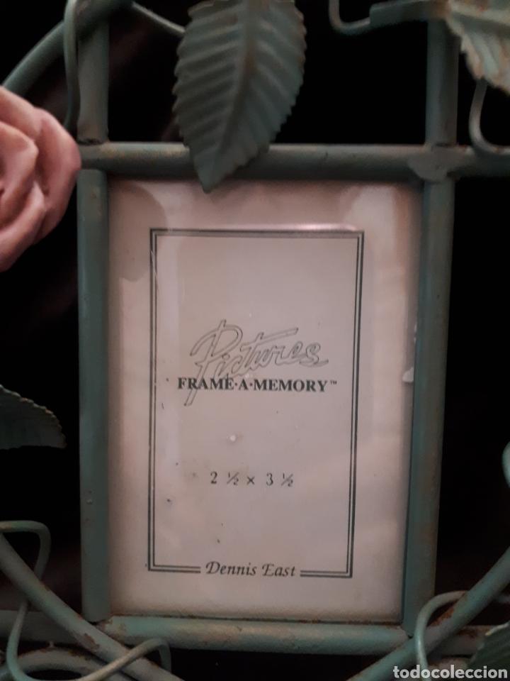 Vintage: Pequeño marco fotos hierro forja rosa - Foto 2 - 154059209
