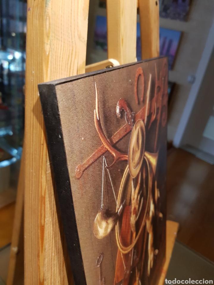 Vintage: Cuadro en madera de Caza. Estilo antiguo vintage con objetos de caceria - Foto 5 - 155132318