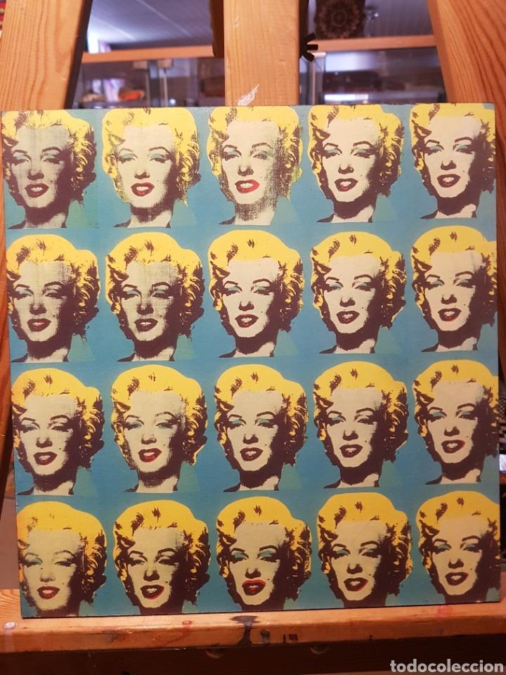 ANDY WARHOL: MARILYN MONROE MULTIPLE: CUADRO EN MADERA DECORACIÓN POP ART. REPRO PINTURA GICLEE. (Vintage - Decoración - Varios)