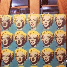 Vintage: ANDY WARHOL: MARILYN MONROE MULTIPLE: CUADRO EN MADERA DECORACIÓN POP ART. REPRO PINTURA GICLEE.. Lote 155264765