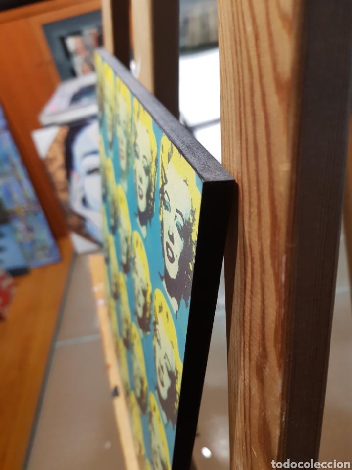 Vintage: ANDY WARHOL: Marilyn Monroe Multiple: Cuadro en madera decoración pop art. REPRO Pintura Giclee. - Foto 2 - 155264765