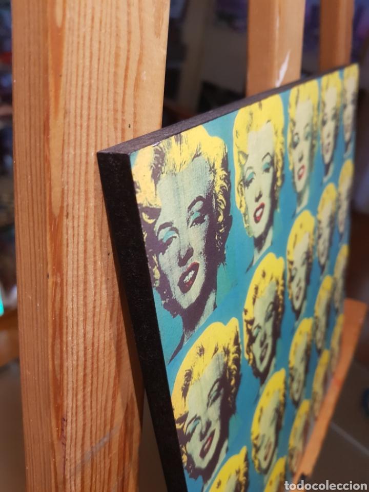 Vintage: ANDY WARHOL: Marilyn Monroe Multiple: Cuadro en madera decoración pop art. REPRO Pintura Giclee. - Foto 3 - 155264765