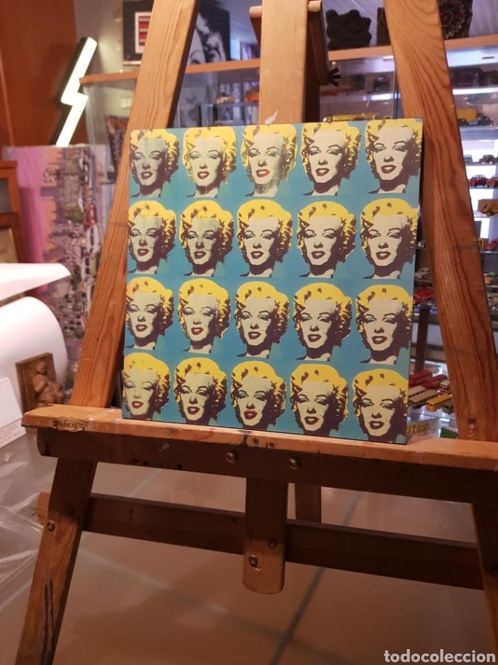 Vintage: ANDY WARHOL: Marilyn Monroe Multiple: Cuadro en madera decoración pop art. REPRO Pintura Giclee. - Foto 4 - 155264765