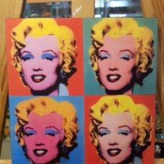 Vintage: ANDY WARHOL : MARILYN MONROE: CUADRO REPRODUCCION EN MADERA DECORACIÓN POP ART USA EN PINTURA GICLEE. Lote 210246385