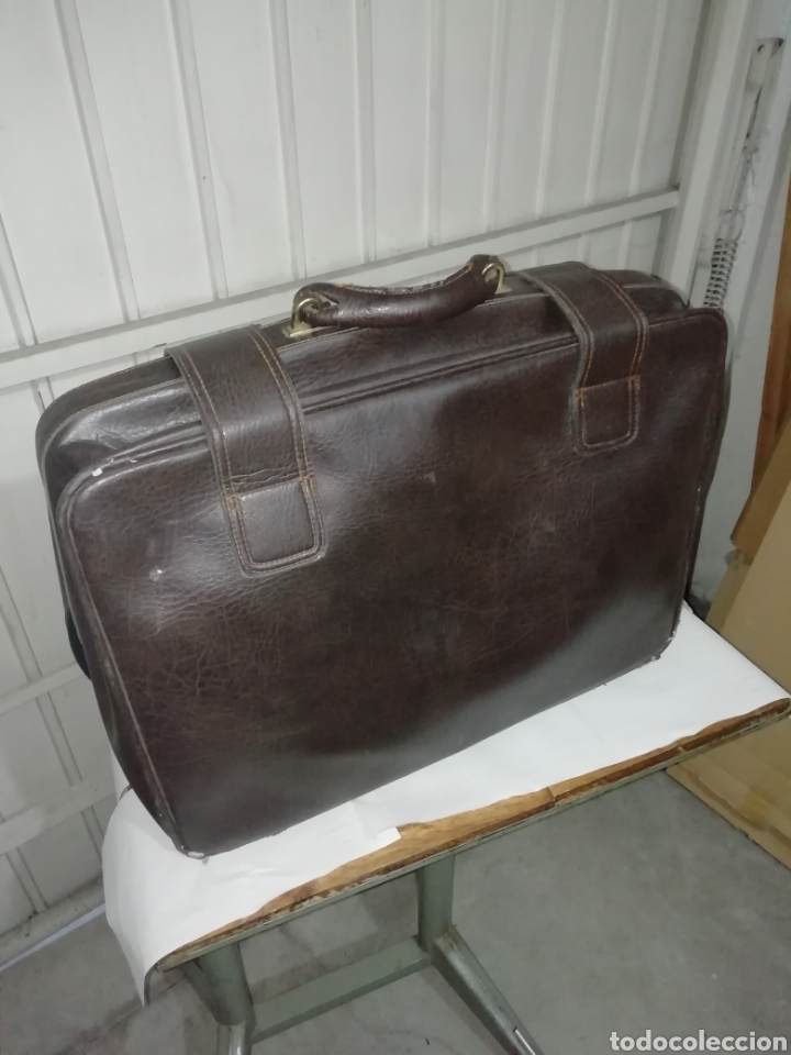 Vintage: Maleta antigua de cuero negra - Foto 2 - 155300189