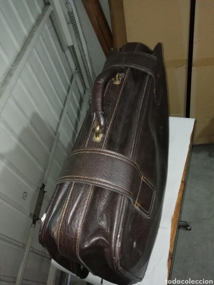 Vintage: Maleta antigua de cuero negra - Foto 3 - 155300189