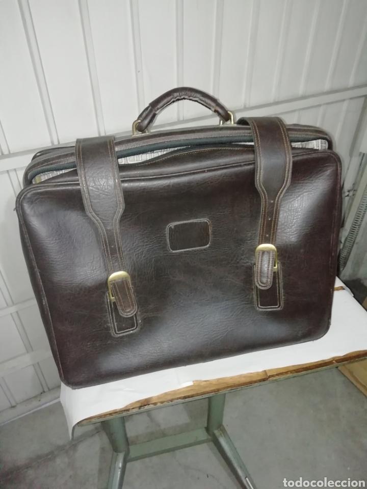 Vintage: Maleta antigua de cuero negra - Foto 4 - 155300189