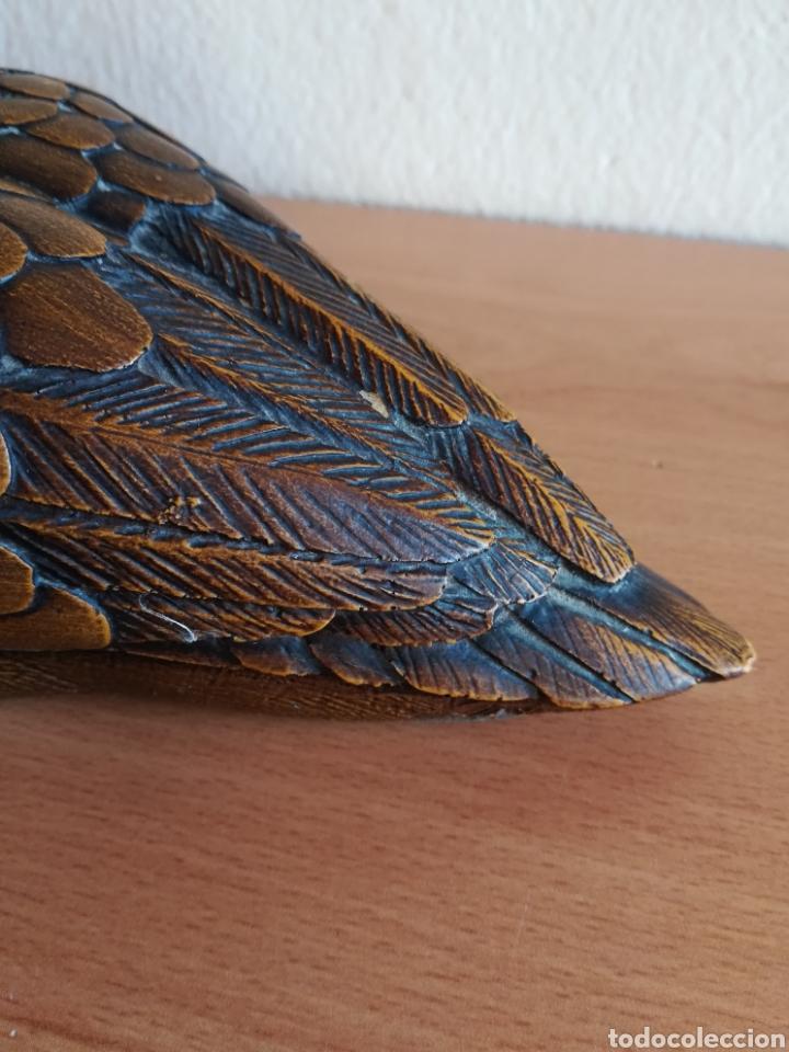 Vintage: Figura pato firma Malevolti - Italia - madera y bronce plateado - Caza Decoración vintage rústica - Foto 15 - 155373612