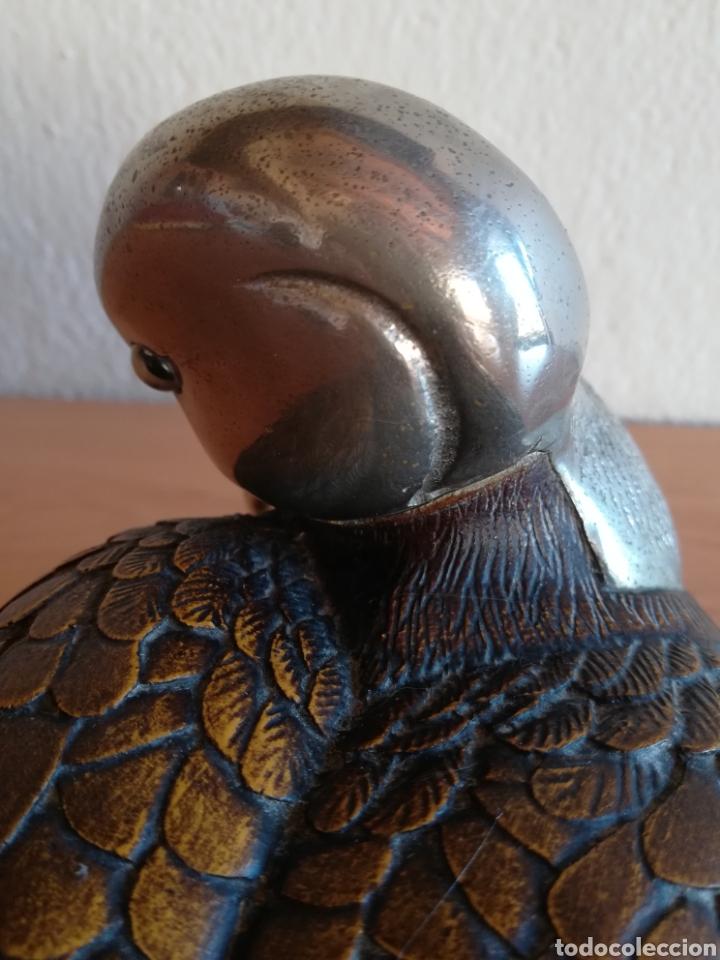 Vintage: Figura pato firma Malevolti - Italia - madera y bronce plateado - Caza Decoración vintage rústica - Foto 17 - 155373612
