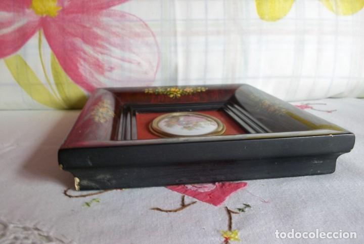 Vintage: CUADRO CON MEDALLON PORCELANA-FRAGONARD-VINTAGE - Foto 6 - 205397077