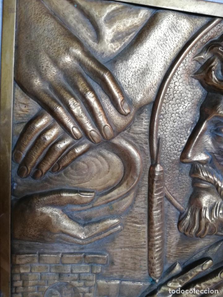 Vintage: Antiguo cuadro de Cristo, Jesucristo, o Jesús. metal, bronce o latón. - Foto 4 - 155482714