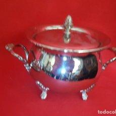 Vintage: SOPERA DE METAL PLATEADO DE BONITO DISEÑO.. Lote 155811162