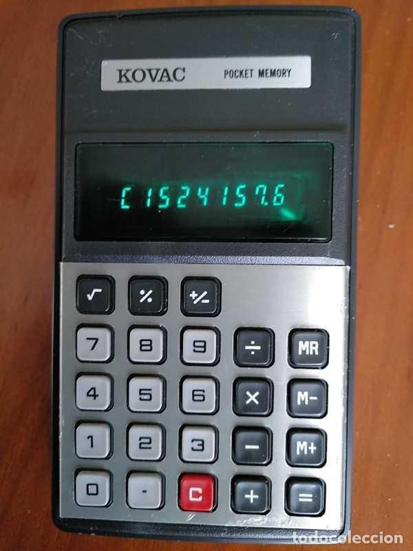 Vintage: ANTIGUA CALCULADORA KOVAC POCKET MEMORY P-81 FUNCIONANDO DE LOS AÑOS 70 ELECTRONIC CALCULATOR - Foto 2 - 155930282