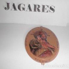 Vintage: PLACA SAGRADO CORAZÓN DE JESÚS EN METAL PARA PUERTA. Lote 156213118
