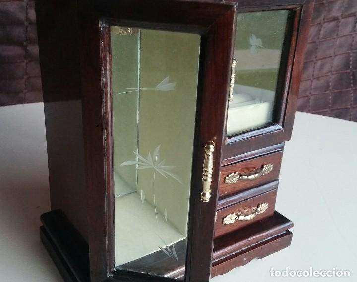 Vintage: Armario joyero de madera. Años 80 - Foto 4 - 156654990
