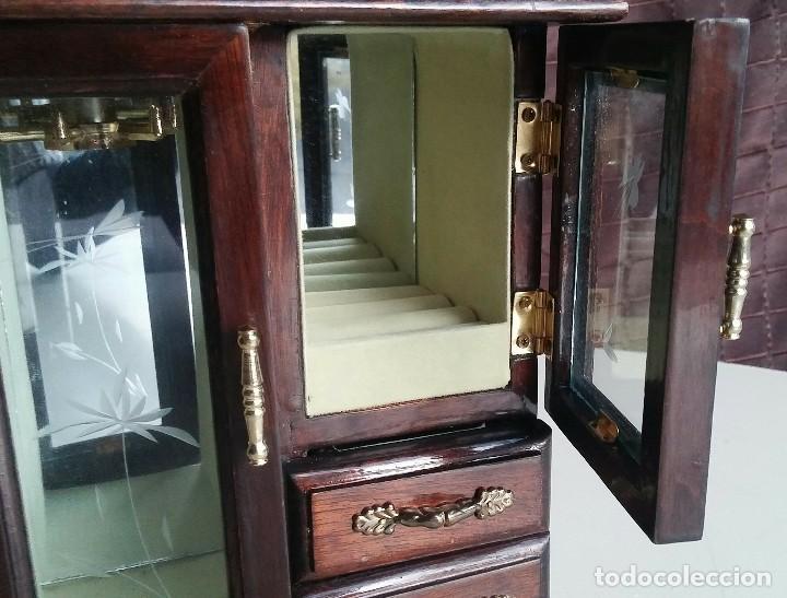 Vintage: Armario joyero de madera. Años 80 - Foto 5 - 156654990