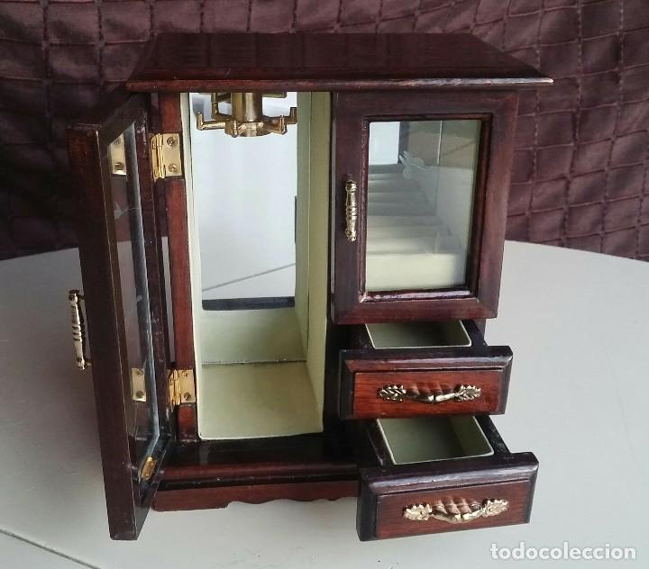 Vintage: Armario joyero de madera. Años 80 - Foto 7 - 156654990