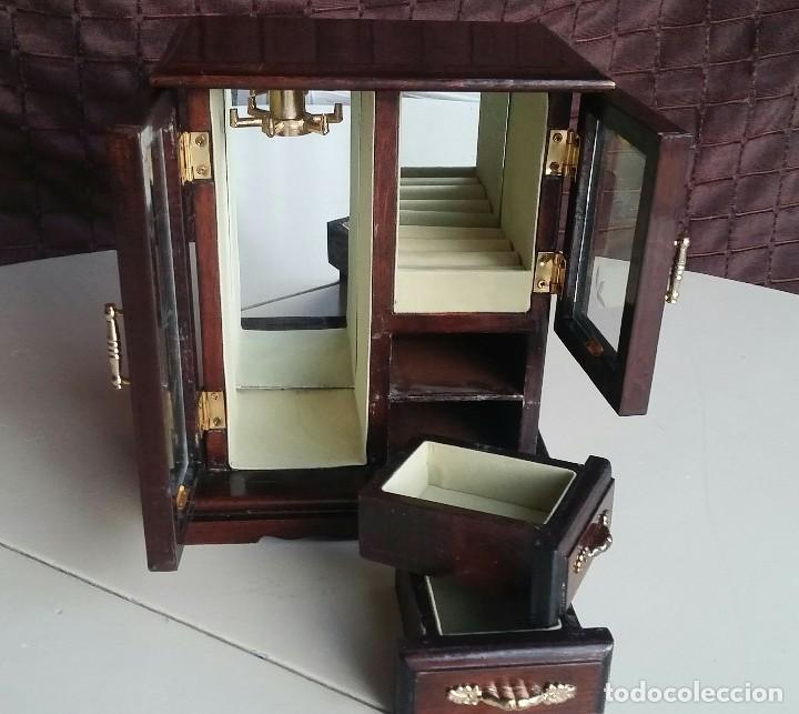 Vintage: Armario joyero de madera. Años 80 - Foto 8 - 156654990