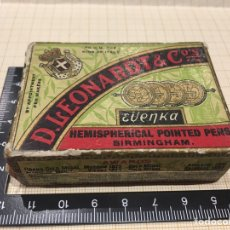 Vintage: CAJA ANTIGUA DE PLUMINES. PLUMILLAS D. LEONARDT. Lote 157123652