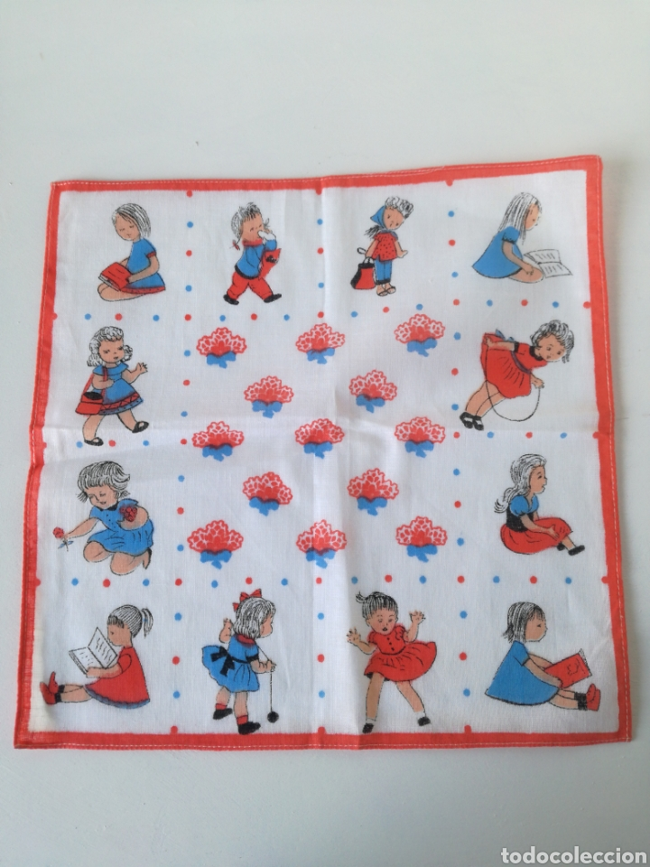 Vintage: VINTAGE CAJA DE PIEL CON 10 PAÑUELOS INFANTILES AÑOS 60 // RETRO POP SIXTIES YE-YE - Foto 4 - 157910782