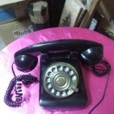 Vintage: TELÉFONO SOBREMESA COLOR NEGRO MEDIDA 18X13 BUEN ESTADO. Lote 190531661