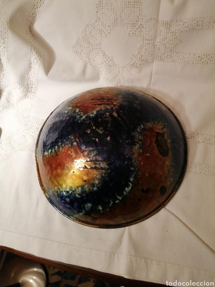Vintage: Cuenco vintage esmaltado en cobre. 31x9 cm. Colección. - Foto 2 - 158380626
