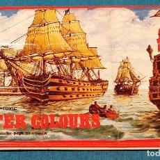 Vintage: CAJA DE ACUARELAS METALICA DECORADA AÑOS 80.. Lote 158501830