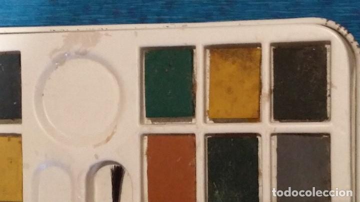 Vintage: Caja de acuarelas metalica decorada años 80. - Foto 9 - 158501830